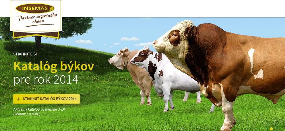 Katalóg býkov INSEMAS 2014